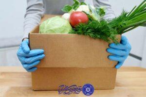 ورود سبزیجات ایمنی مواد غذایی در یک آشپزخانه